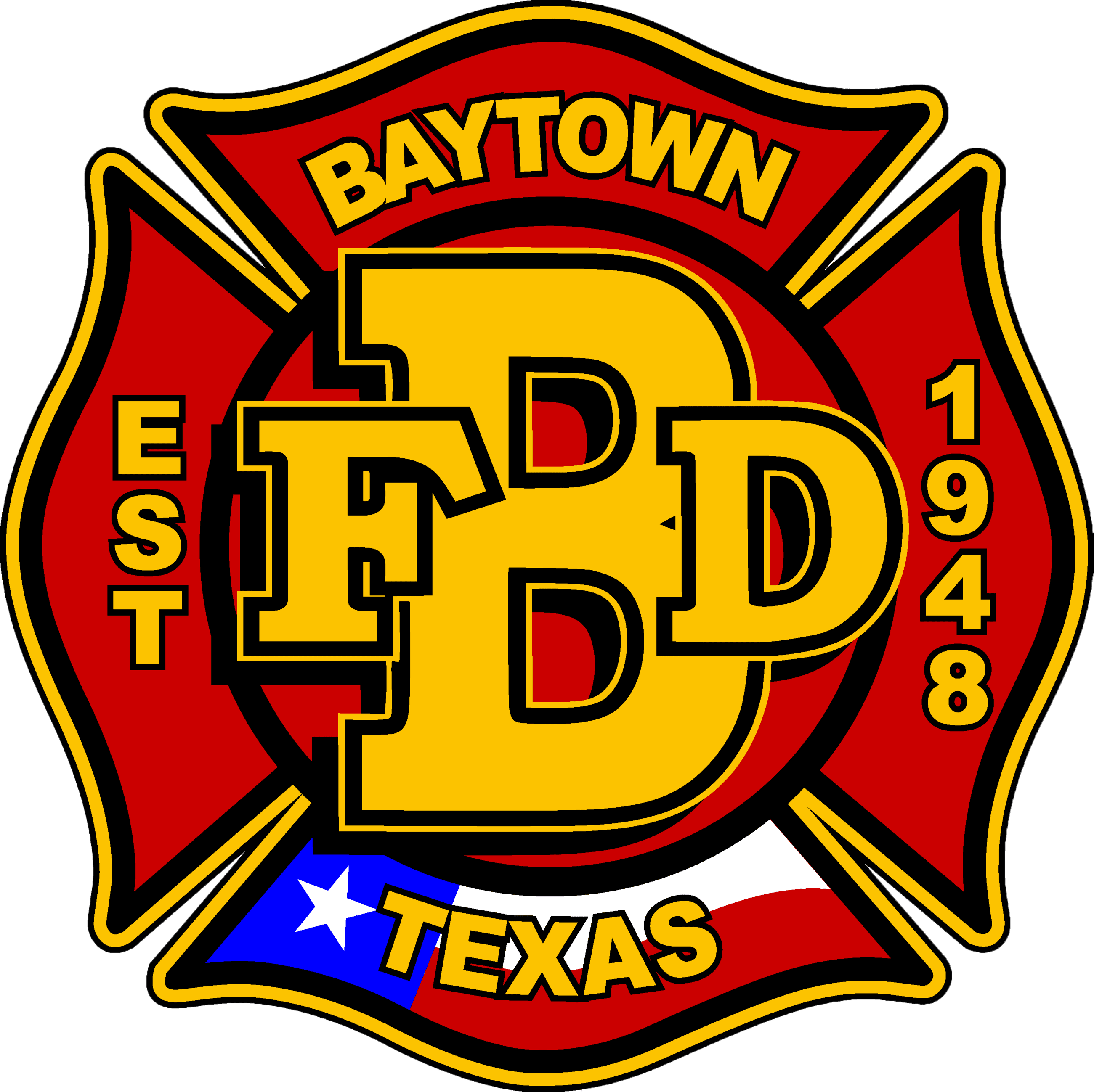 Baytown Fire Department Badge